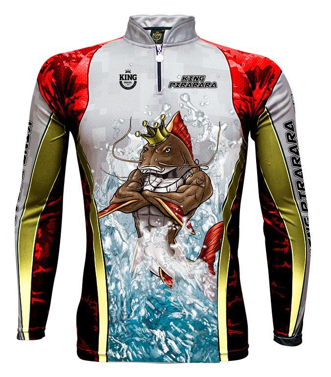 Camiseta De Pesca King Proteção Solar Uv KFF500 - King Pirarara