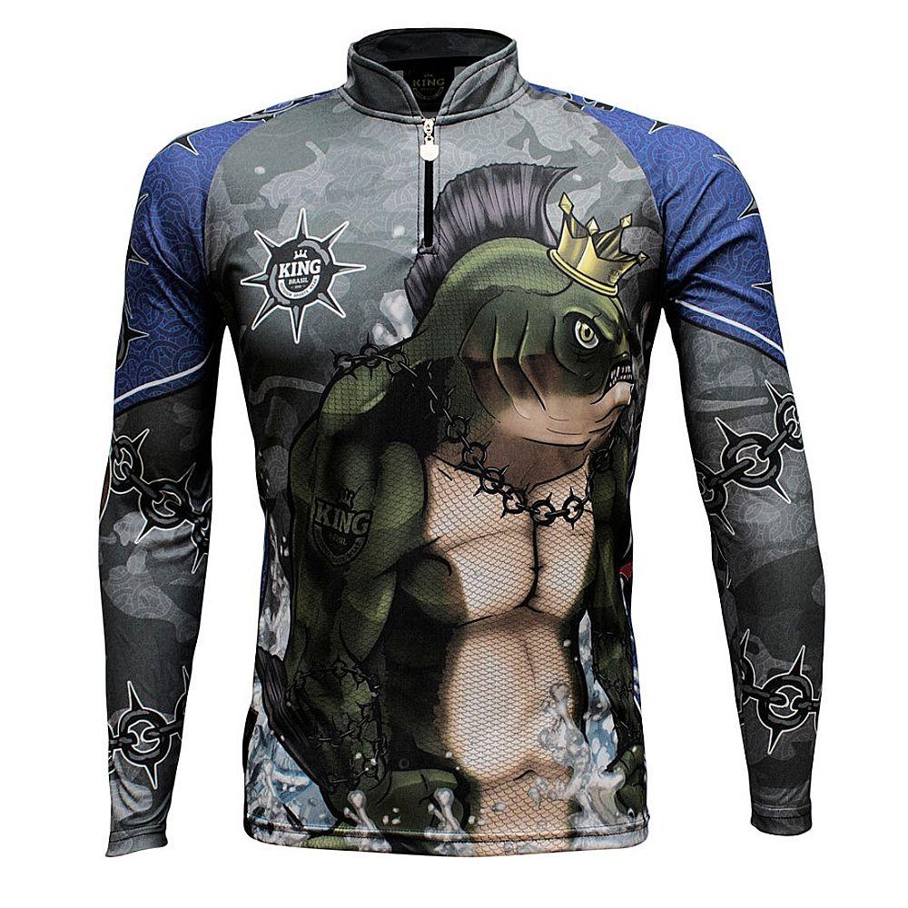 Camiseta De Pesca King Proteção Solar Uv KFF501 - Tambrutus