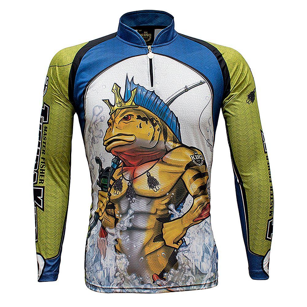 Camiseta De Pesca King Proteção Solar Uv KFF503 - Tucuna King
