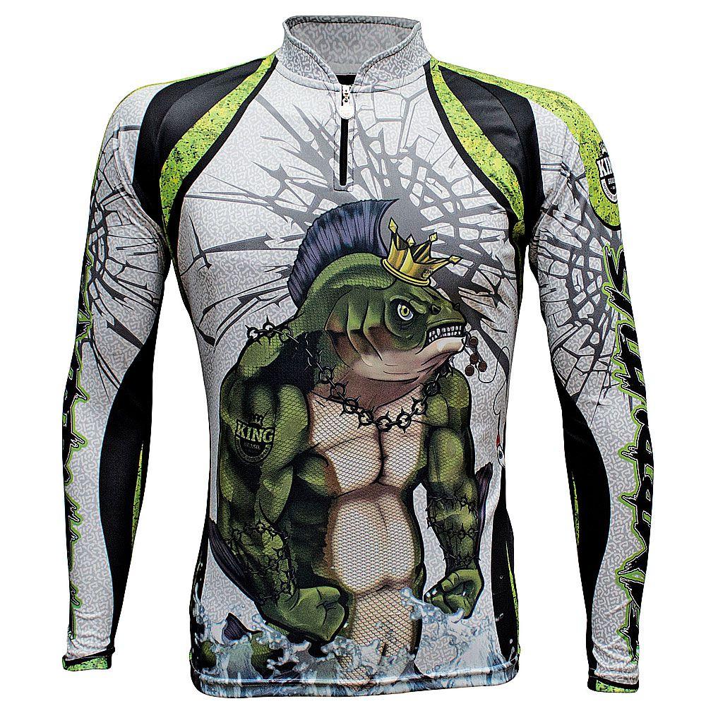 Camiseta De Pesca King Proteção Solar Uv KFF505 - Tambrutus