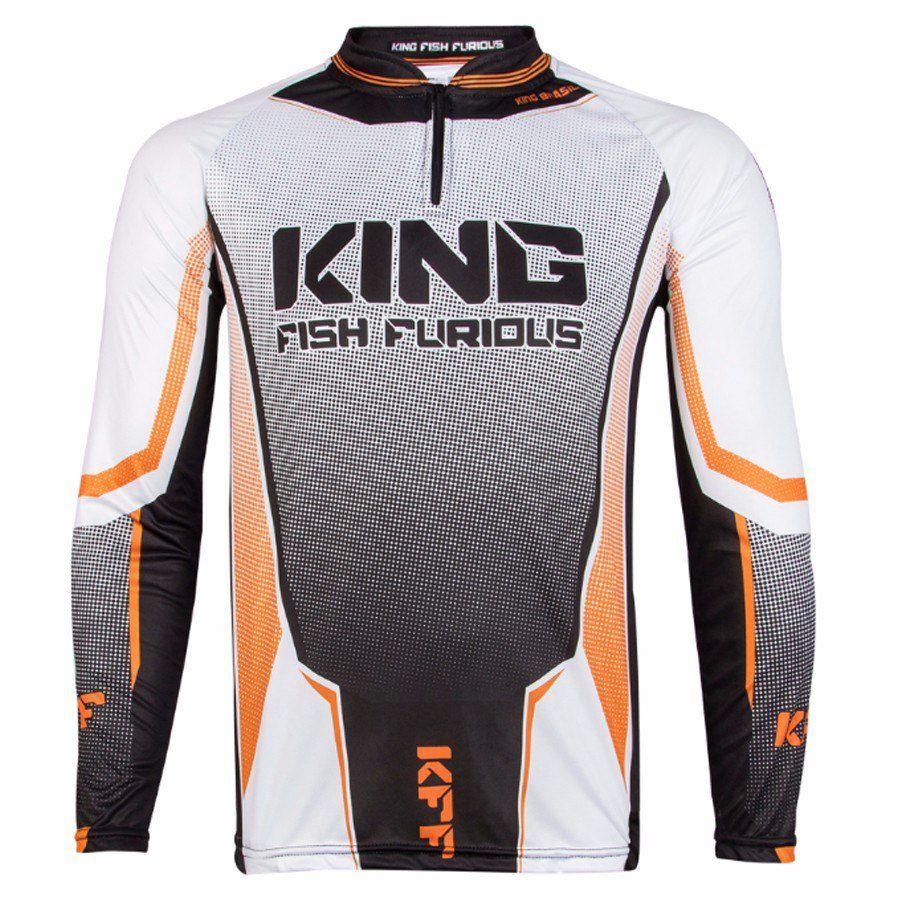 Camiseta De Pesca King Proteção Solar Uv KFF54 - King