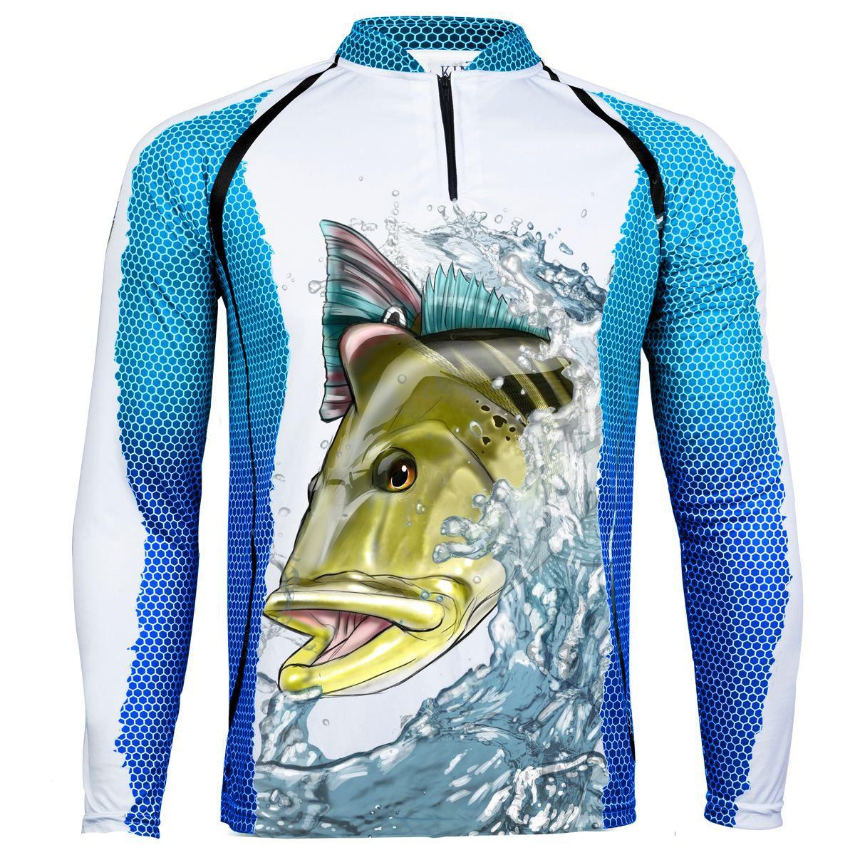Camiseta De Pesca King Proteção Solar Uv KFF57 - Tucunaré