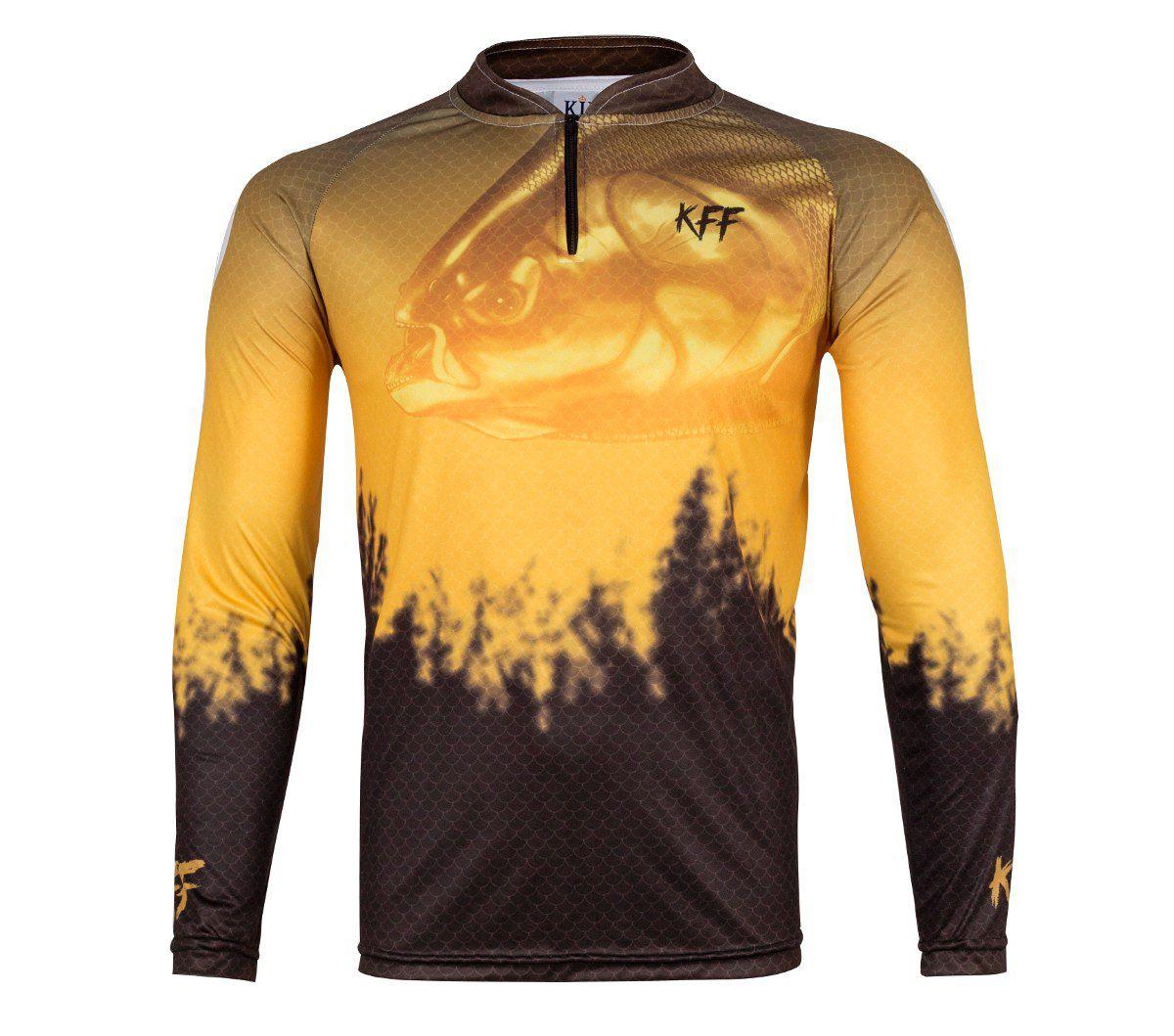 Camiseta De Pesca King Proteção Solar Uv KFF59 - Tamba