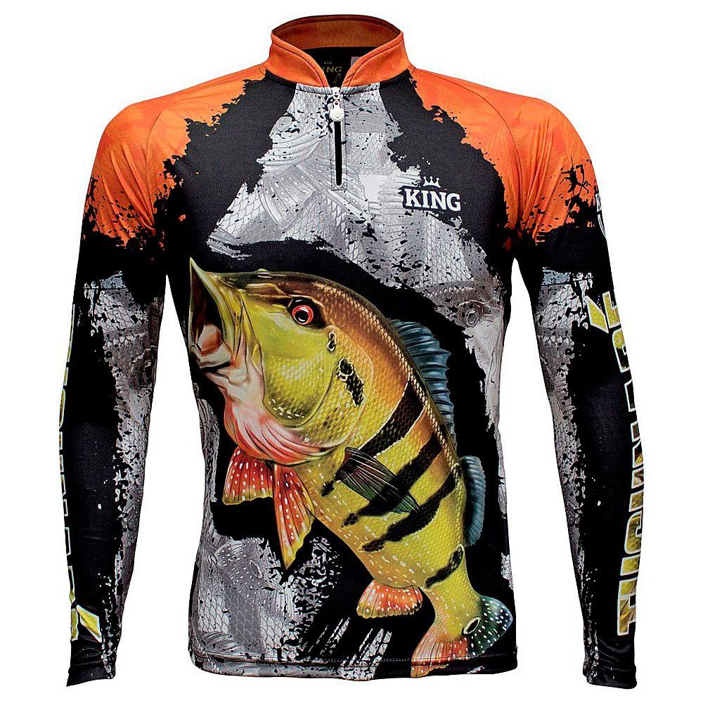 Camiseta De Pesca King Proteção Solar Uv KFF600 - Tucunaré