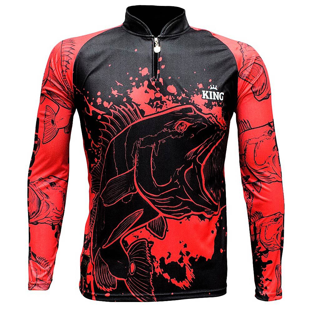 Camiseta De Pesca King Proteção Solar Uv KFF607 - Tucunare