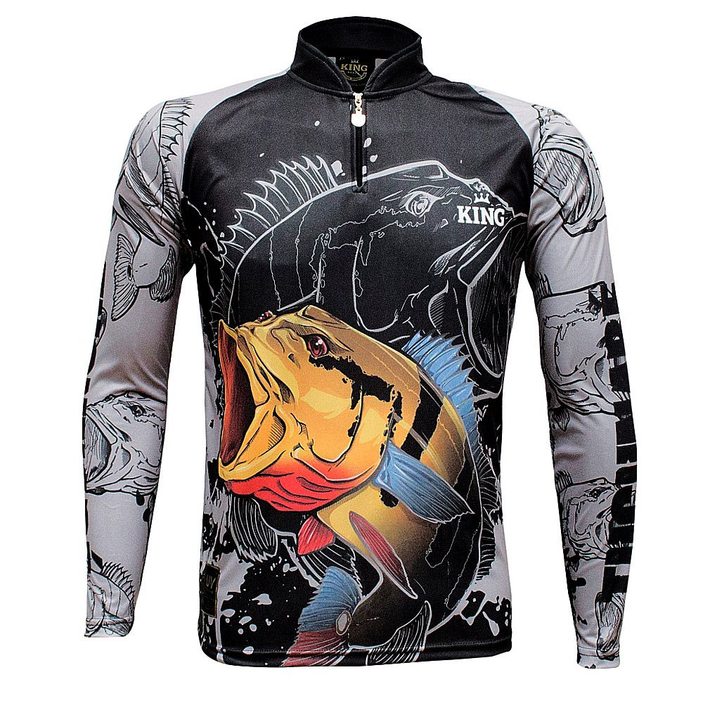 Camiseta De Pesca King Proteção Solar Uv KFF608 - Tucunare
