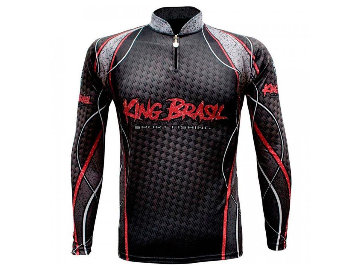 Camiseta De Pesca King Proteção Solar Uv KFF636 Sport