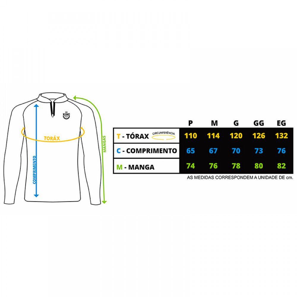 Camiseta De Pesca King Proteção Solar Uv KFF65 - Azul  - Life Pesca - Sua loja de Pesca, Camping e Lazer