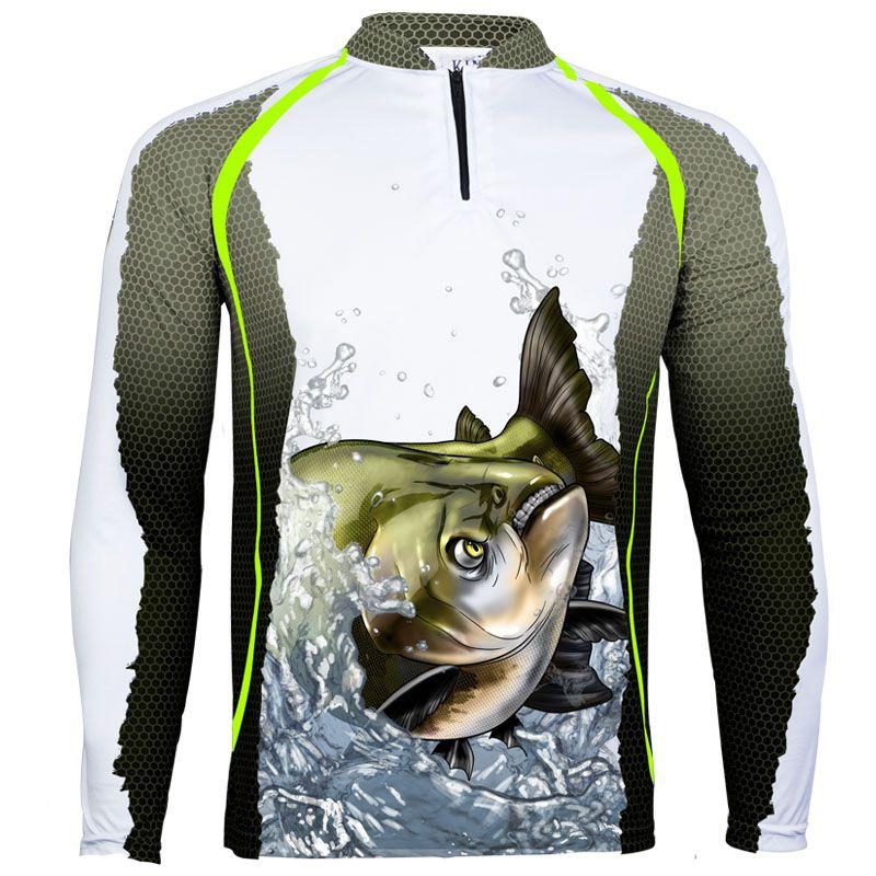 Camiseta De Pesca King Proteção Solar Uv KFF67 - Tamba