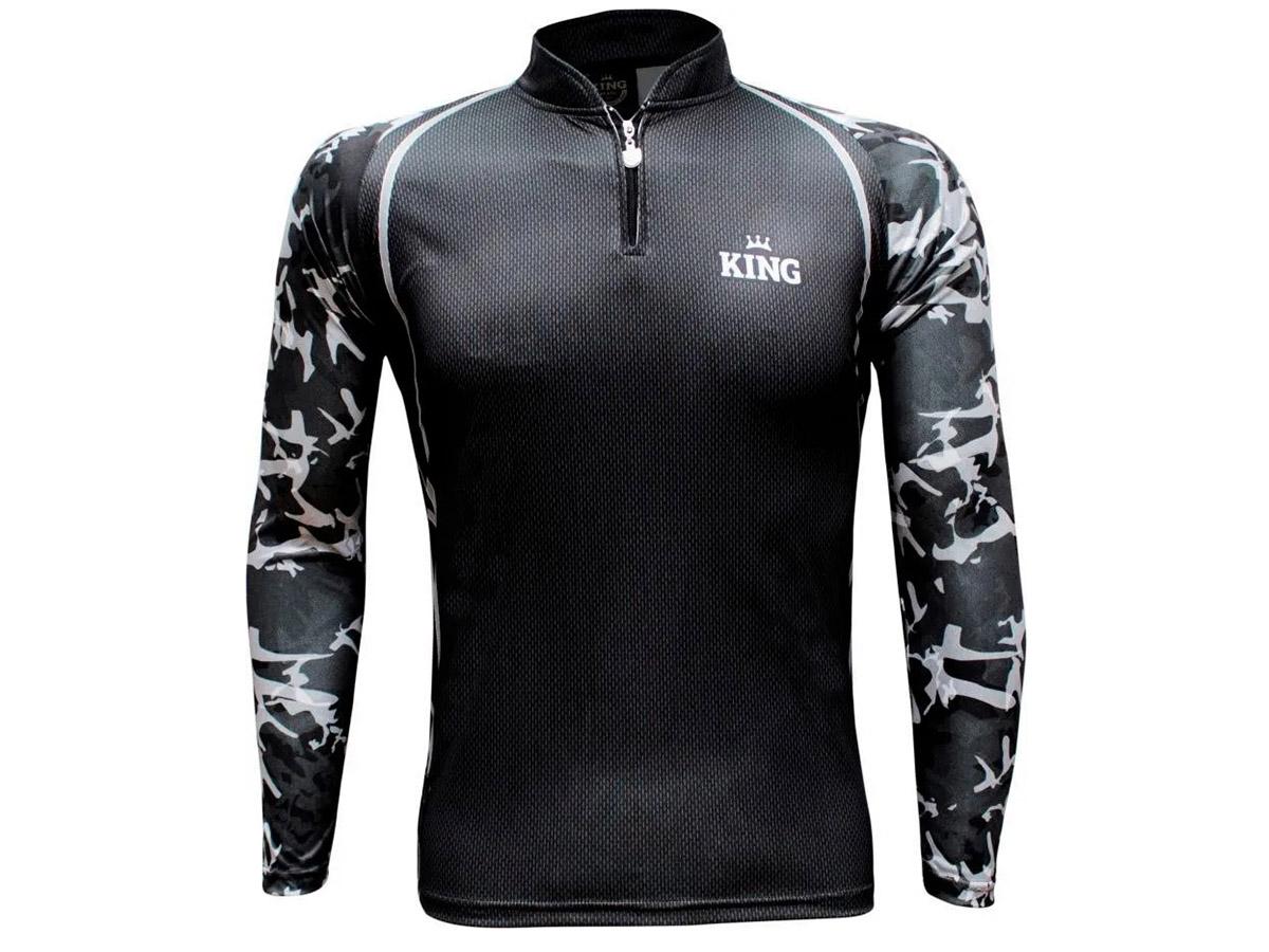 Camiseta De Pesca King Proteção Solar Uv - Sport 06