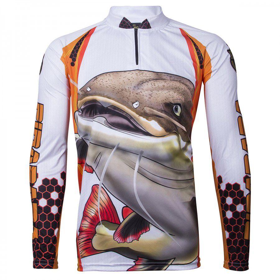 Camiseta De Pesca King Proteção Solar Uv Viking 02 - Pirarara