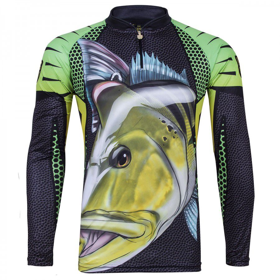 Camiseta De Pesca King Proteção Solar Uv Viking 07 - Tucunaré