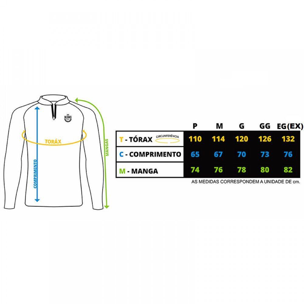 Camiseta De Pesca King Proteção Solar Uv Viking 07 - Tucunaré  - Life Pesca - Sua loja de Pesca, Camping e Lazer