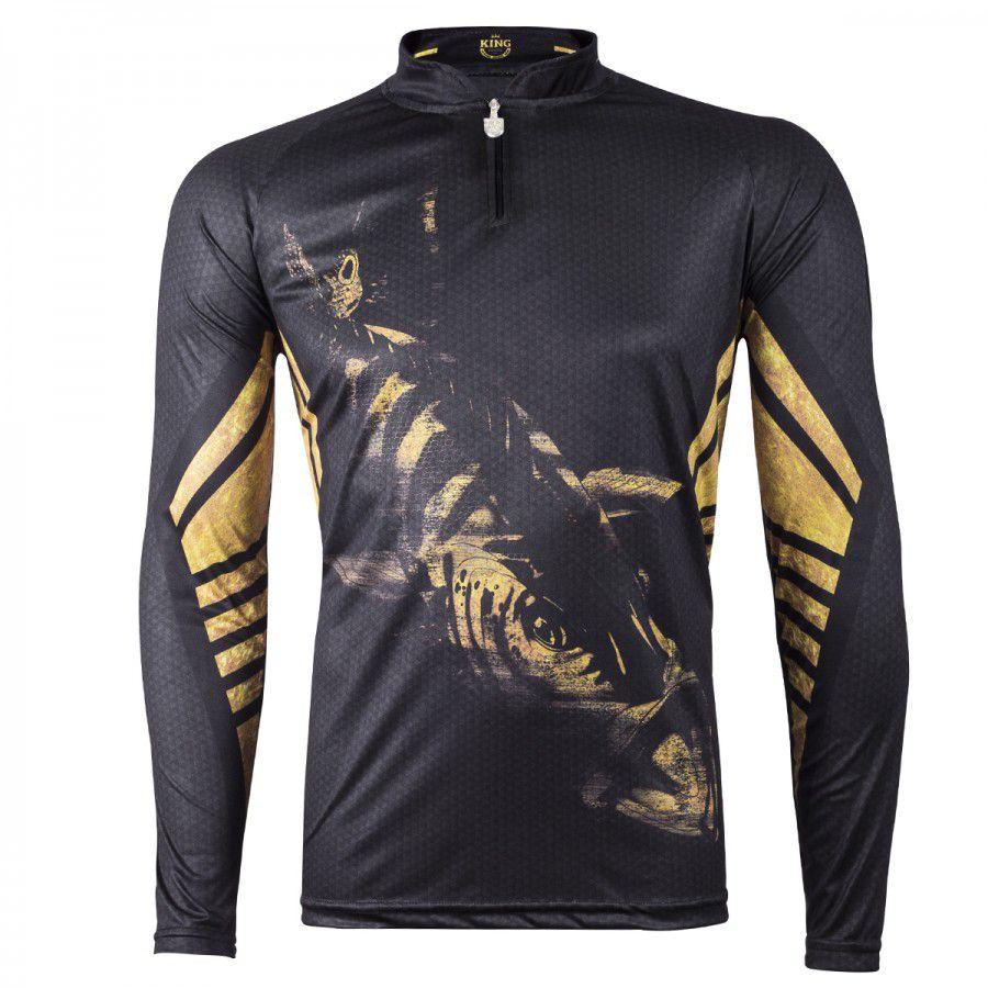 Camiseta De Pesca King Proteção Solar Uv Viking 10 - Tucunaré