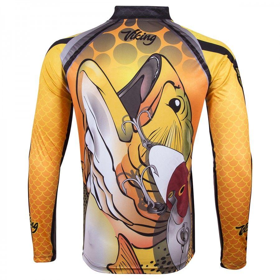 Camiseta De Pesca King Proteção Solar Uv Viking 12 - Dourado  - Life Pesca - Sua loja de Pesca, Camping e Lazer