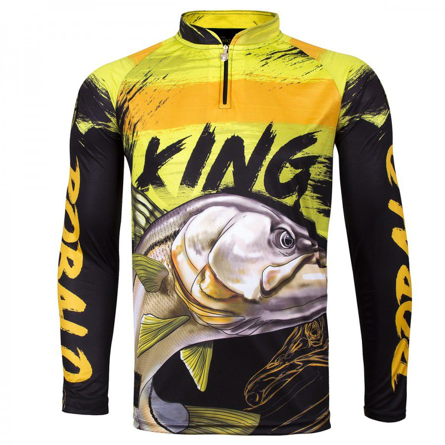 Camiseta De Pesca King Proteção Solar Uv Viking 13 - Robalo