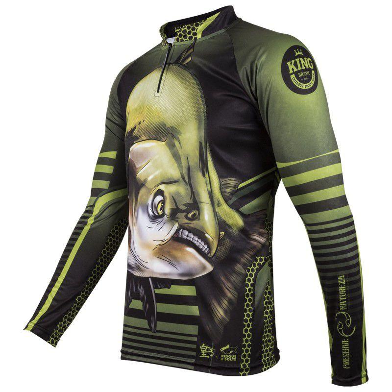 Camiseta De Pesca King Proteção Solar Uv Viking 19 - Tamba  - Life Pesca - Sua loja de Pesca, Camping e Lazer
