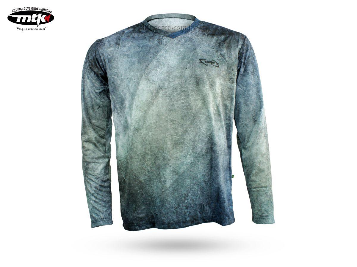 Camiseta De Pesca MTK Atack V - Proteção Solar Uv - Pixe