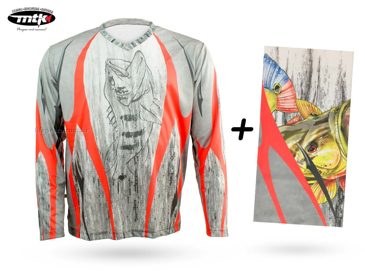 Camiseta De Pesca Mtk Atack V Tribal + Bandana Tribal
