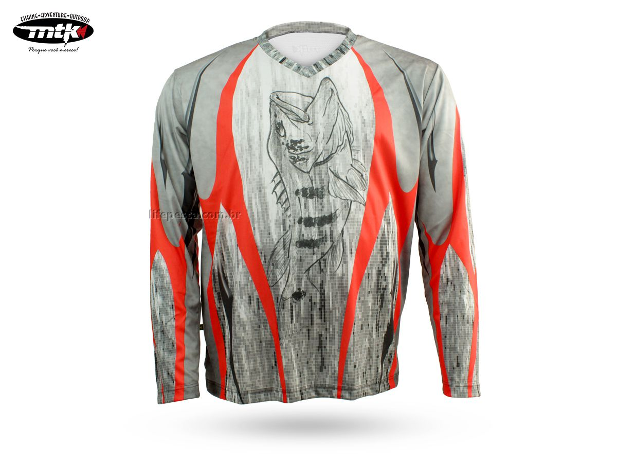 Camiseta De Pesca MTK Atack V Tribal - Proteção Solar Uv - Infantil e Adulto