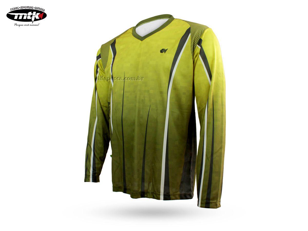 Camiseta De Pesca MTK Atack V Yellow - Proteção Solar Uv - Infantil e adulto  - Life Pesca - Sua loja de Pesca, Camping e Lazer