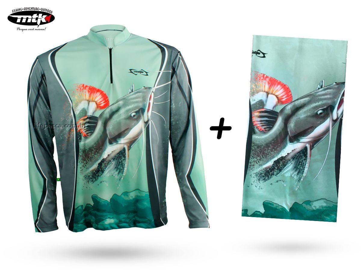 Camiseta De Pesca Mtk Atack Z Pirarara + Bandana Pirarara