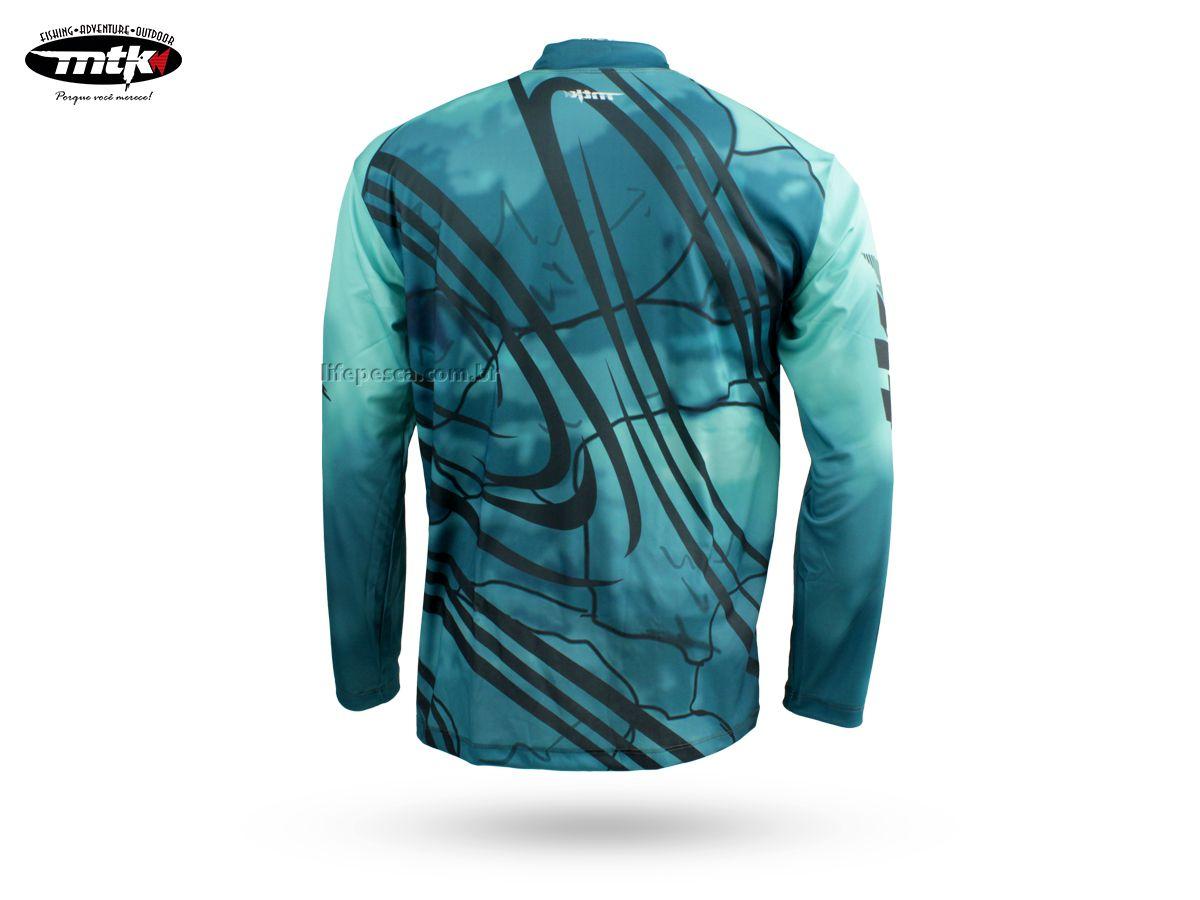 Camiseta De Pesca Mtk Atack Z - Protecao Solar Uv - Dourado  - Life Pesca - Sua loja de Pesca, Camping e Lazer