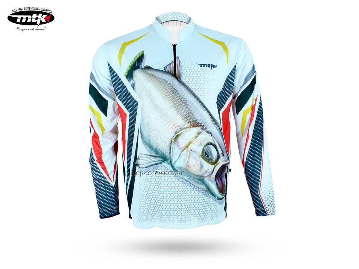 Camiseta De Pesca MTK Atack Z - Protecao Solar Uv - Matrinxã