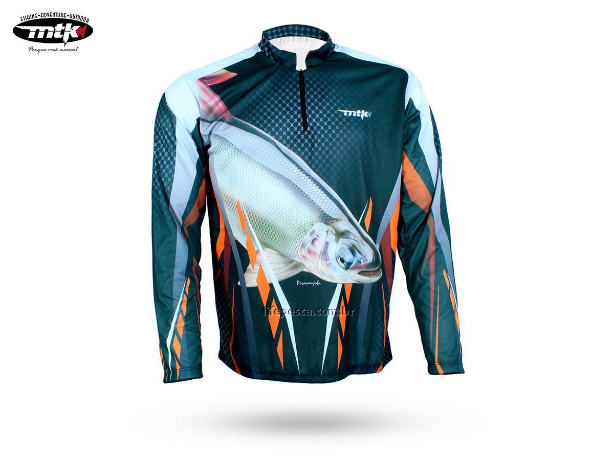 Camiseta De Pesca MTK Atack Z - Protecao Solar Uv - Piracanjuba
