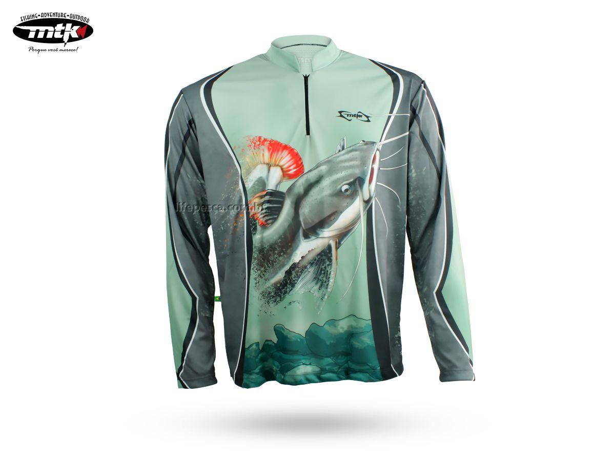 Camiseta De Pesca Mtk Atack Z - Protecao Solar Uv - Pirarara