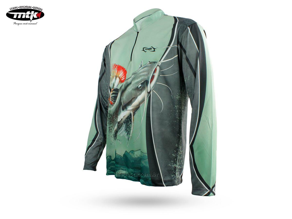 Camiseta De Pesca Mtk Atack Z - Protecao Solar Uv - Pirarara  - Life Pesca - Sua loja de Pesca, Camping e Lazer