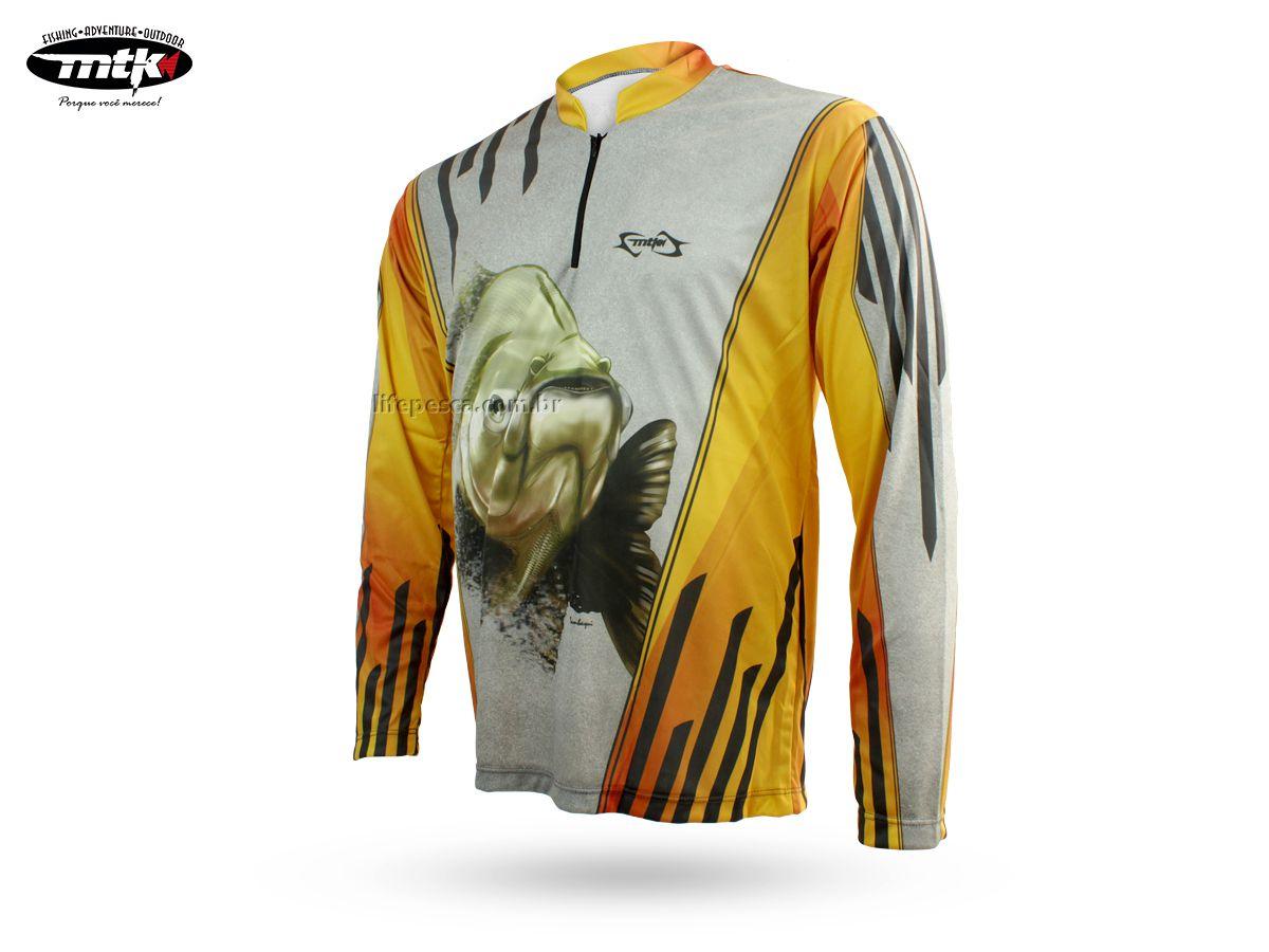 Camiseta De Pesca Mtk Atack Z - Protecao Solar Uv - Tambaqui  - Life Pesca - Sua loja de Pesca, Camping e Lazer