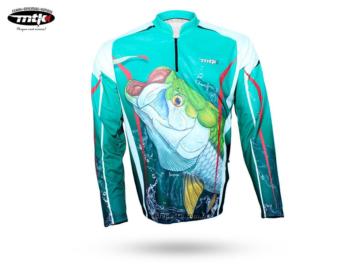Camiseta De Pesca MTK Atack Z - Protecao Solar Uv - Tarpon