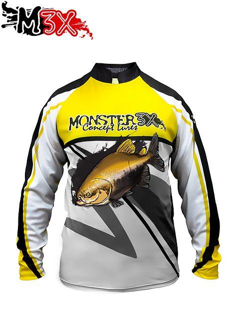 Camiseta de Pesca Proteção Solar New Fish 02 - Monster 3X  - Life Pesca - Sua loja de Pesca, Camping e Lazer