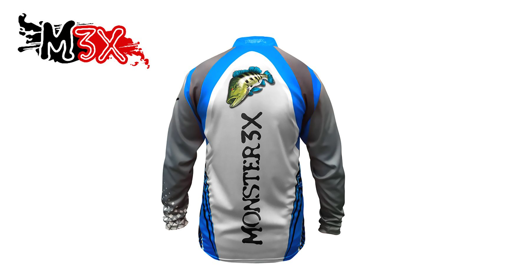 Camiseta de Pesca Proteção Solar New Fish 03 - Monster 3X  - Life Pesca - Sua loja de Pesca, Camping e Lazer