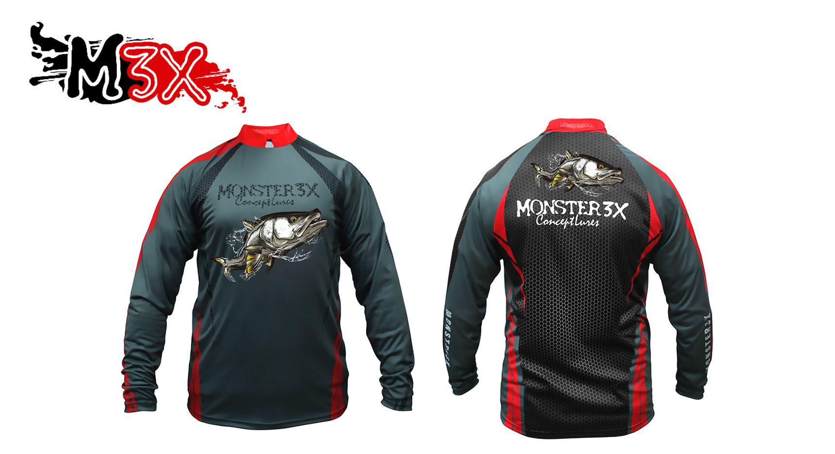 Camiseta de Pesca Proteção Solar New Fish 04 - Monster 3X  - Life Pesca - Sua loja de Pesca, Camping e Lazer