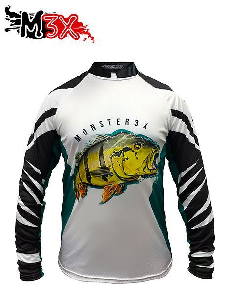Camiseta de Pesca Proteção Solar New Fish 07 - Monster 3X