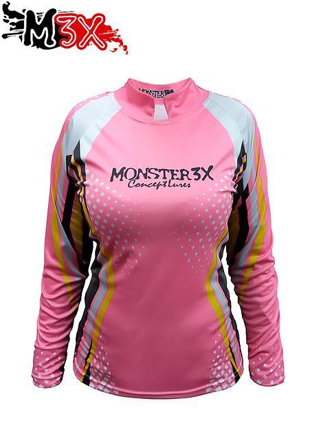 Camiseta de Pesca Proteção Solar New Fish Feminina - Monster 3X  - Life Pesca - Sua loja de Pesca, Camping e Lazer