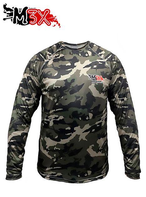 Camiseta de Pesca Proteção Solar Outdoor 01 - Monster 3X  - Life Pesca - Sua loja de Pesca, Camping e Lazer