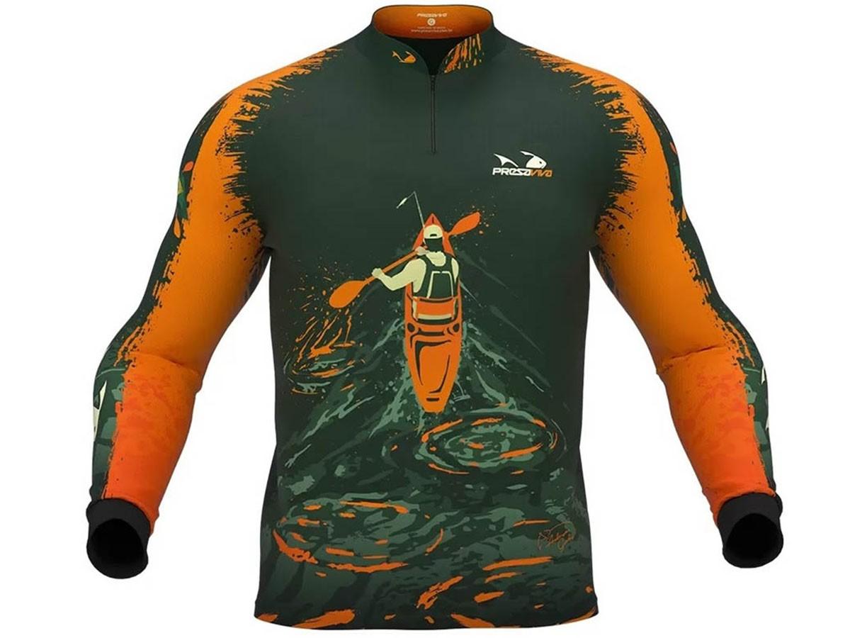 Camiseta De Pesca Presa Viva Proteção Solar Uv - Anderson Guedes 01