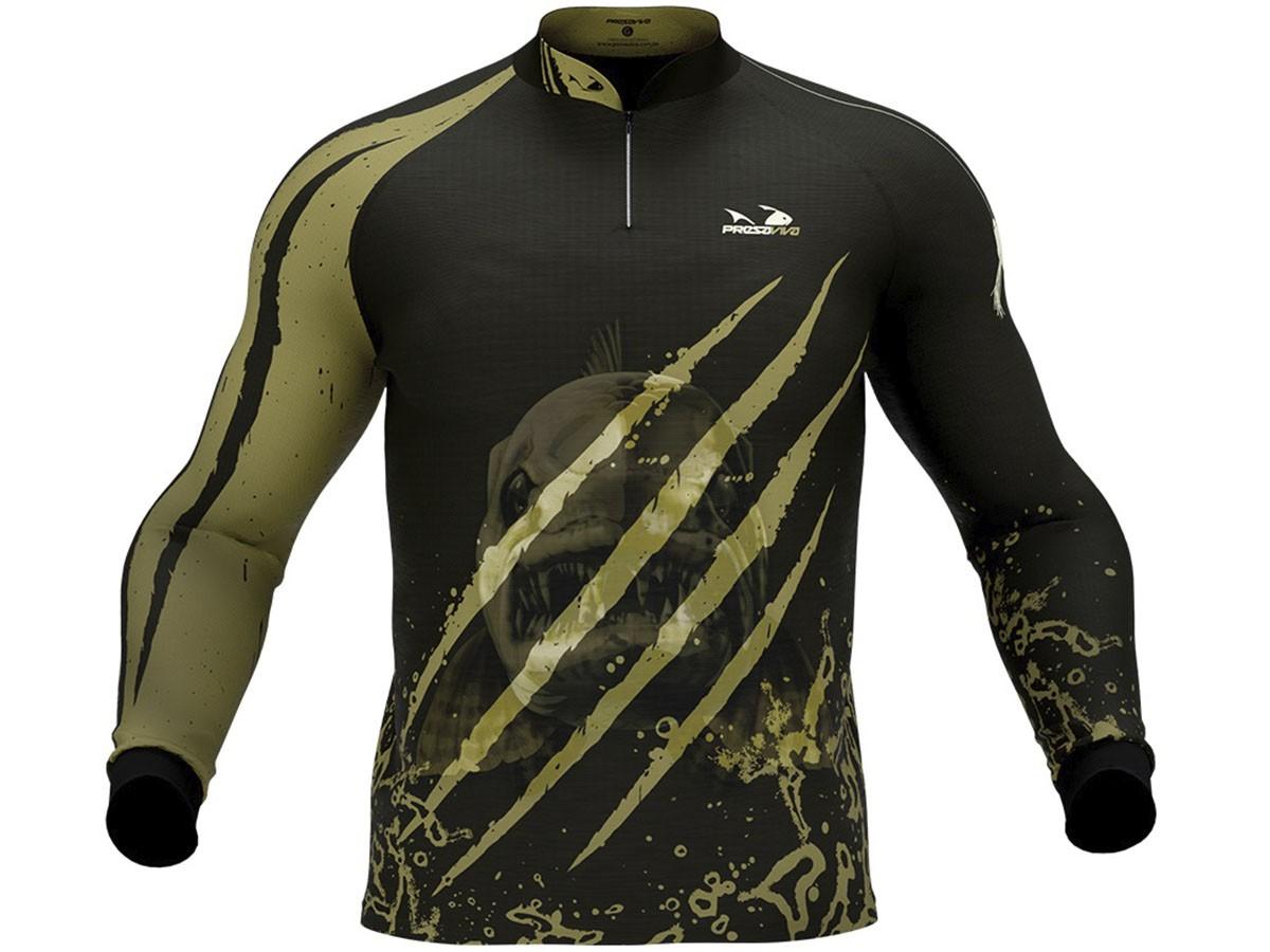 Camiseta De Pesca Presa Viva Proteção Solar Uv - Traira 03