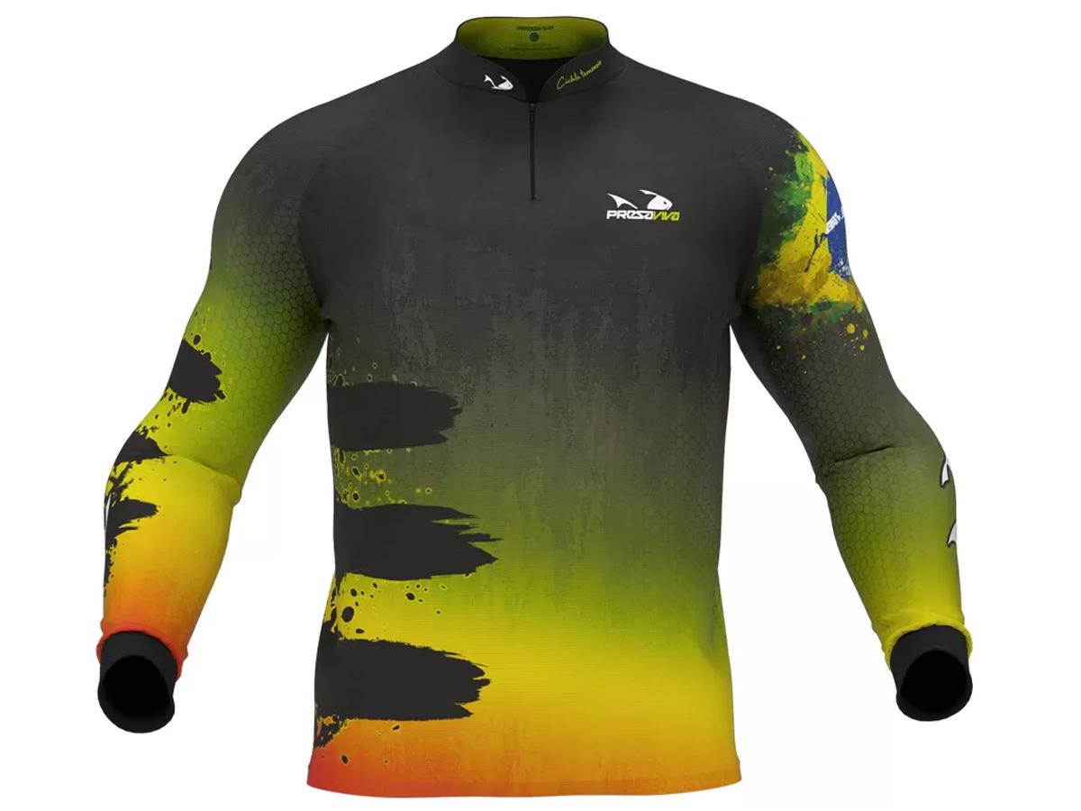 Camiseta De Pesca Presa Viva Proteção Solar Uv - Tucunaré Açu 05