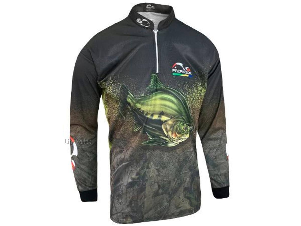 Camiseta de Pesca Proteção Solar Faca na Rede Combat S - Tambaqui 2021