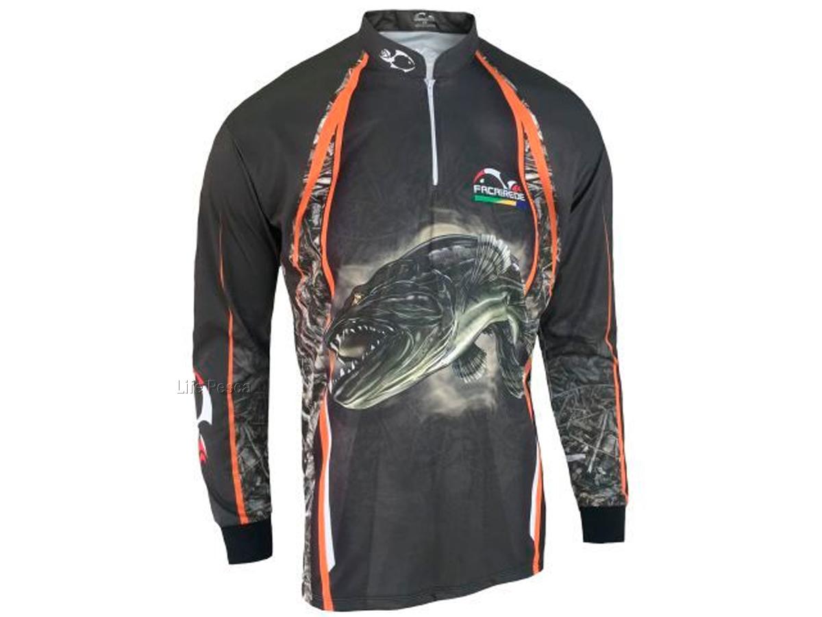 Camiseta de Pesca Proteção Solar Faca na Rede Combat S - Traíra 2021
