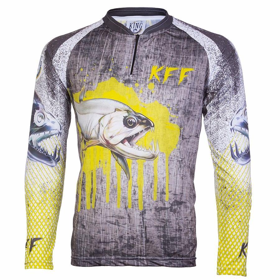 Camiseta De Pesca King Proteção Solar Uv KFF08 - Cachorra