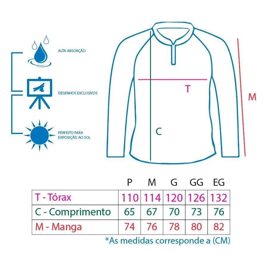 Camiseta De Pesca King Proteção Solar Uv KFF08 - Cachorra  - Life Pesca - Sua loja de Pesca, Camping e Lazer