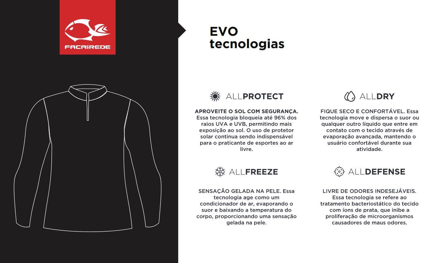 Camiseta de Pesca Feminina Faca na Rede EVO Girl + Bandana TB19  - Life Pesca - Sua loja de Pesca, Camping e Lazer