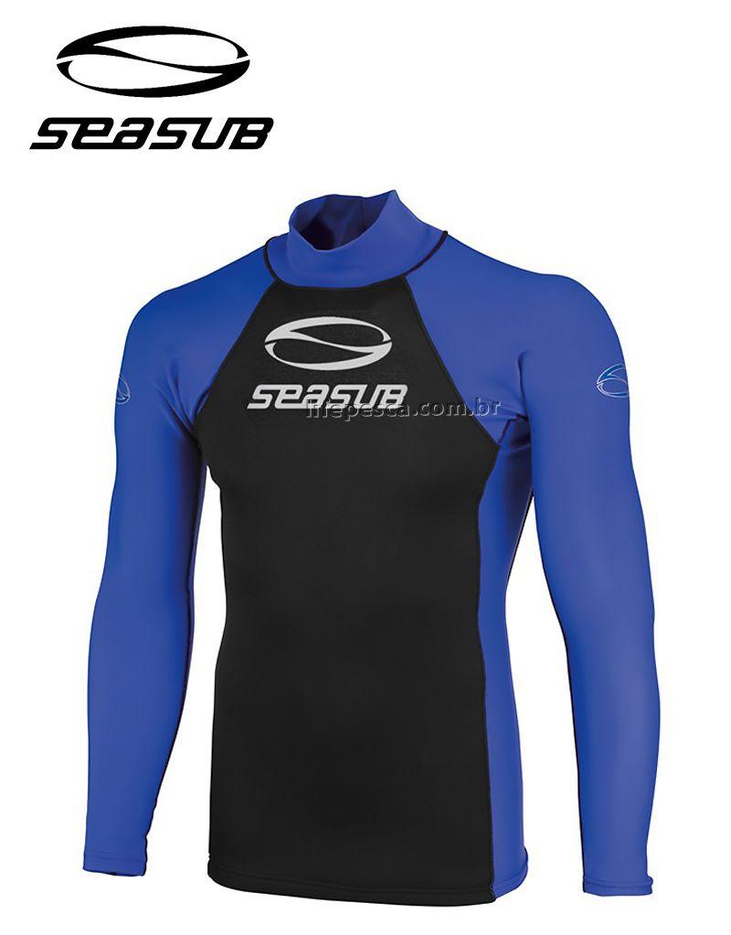 Camiseta Jersey Mergulho Seasub - Manga Longa