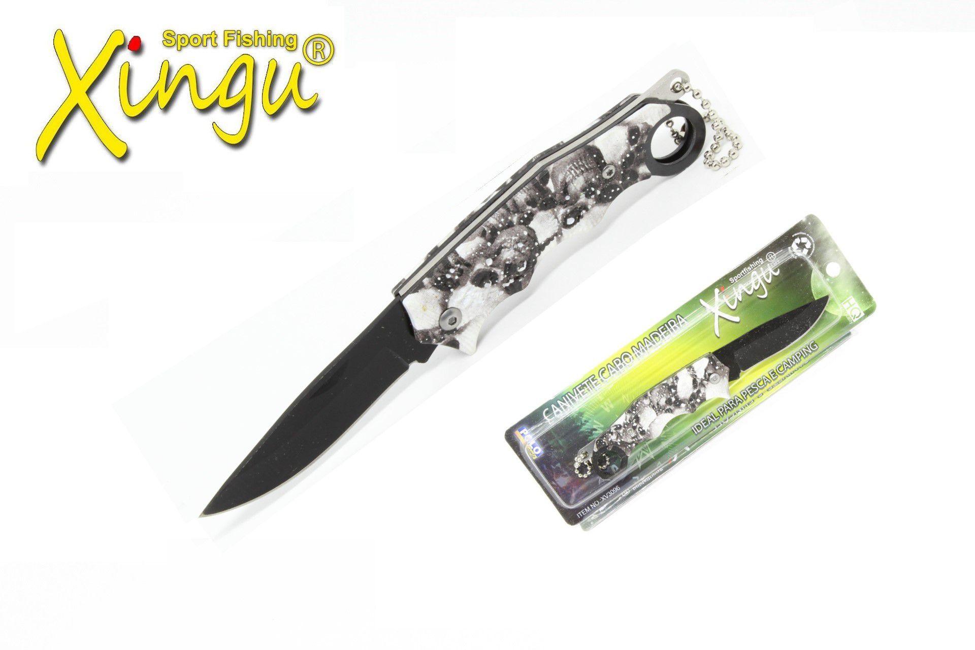 Canivete Xingu XV3096 Caveira Cabo Metal  - Life Pesca - Sua loja de Pesca, Camping e Lazer