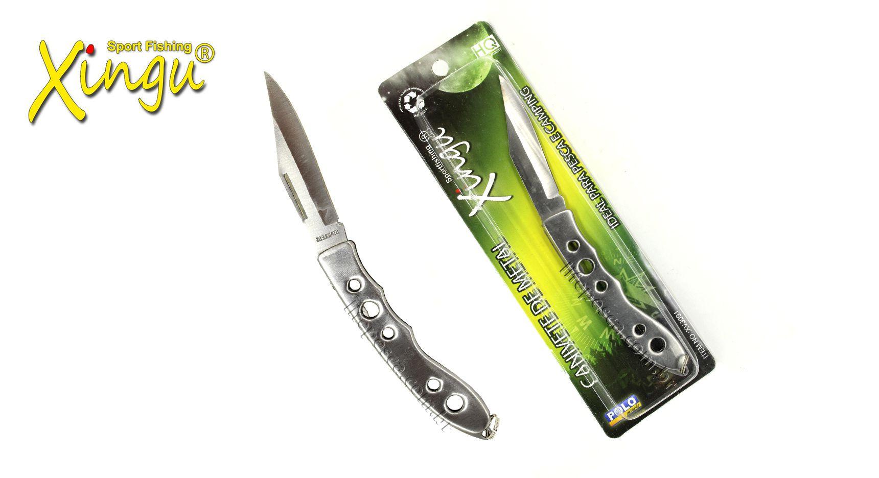Canivete Xingu XV3091 - Inoxidável  - Life Pesca - Sua loja de Pesca, Camping e Lazer